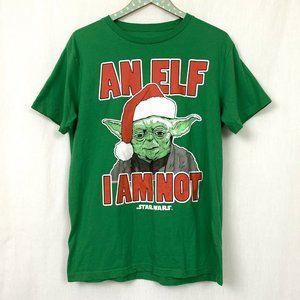 Star Wars Yoda Elf I Am Not T-Shirt L Mens